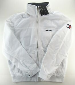 Details about MEN'S TOMMY HILFIGER YACHT YACHTING JACKET WINDBREAKER WATERSTOP WHITE L LARGE