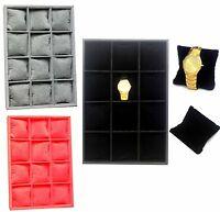 Compartment Jewelry Bracelet Bangle Watch Velvet Display Storage Case Box Tray