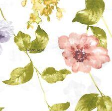 TAHARI 300tc QUEEN DUVET COVER SET COTTON SATEEN Spring Floral Pink Purple Green