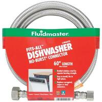 Fluidmaster Fits-all 60 Stainless Steel Dishwasher Hose Connector 1w60cu