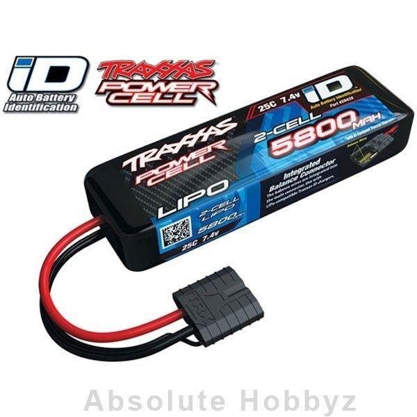 Traxxas 2s Power Cell 25 Centavos Li-poly Battery w id tecnología (7,4 v 5800mah) - tra28