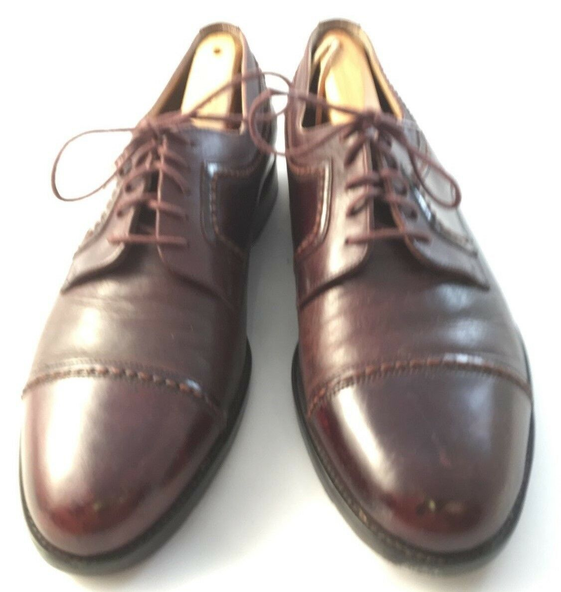Johnston & Murphy Mens size 9.5 M Brown Leather Cap Toe Oxford Dress shoes 7007