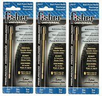 Three Fisher Space Pen Su1f / Blue Ink su Series Universal Refills