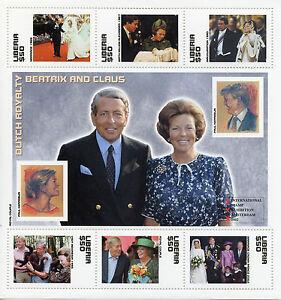 Liberia 2002 MNH Dutch Royalty Queen Beatrix & Claus 6v M/S Royal Family