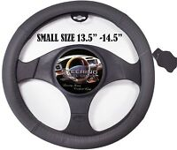 Car Steering Wheel Cover Gray Leather Small