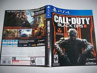 Replacement Case Box Oem Playstation 4 For Call Of Duty Black Ops Iii 3 No Game Ebay