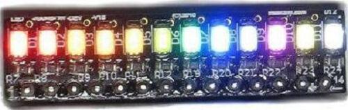 SMD LED rainbow bar graph LED electronics kit eLabGuy LED-RAINBOW-V1B