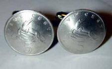 American Crocodile cufflinks~Handmade in the USA-cupronickel Jamaican coins