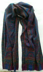 best loved ef386 87117 Dettagli su ETRO Wool and Silk Scarf , Écharpe ETRO, ETRO Sciarpa 146× 56 Cm