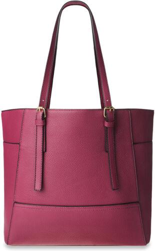 Damen Shopperbag City Style Einkaufstasche Tasche A4 bordeaux