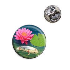 Koi Pond with Lotus Lapel Hat Tie Pin Tack