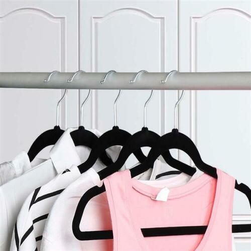 Samt Kleiderbügel Anzugbügel Hemdenbügel Garderobenbügel 50 Stück Jackenbügel