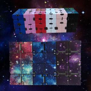 Fun-Magic-Cube-Block-Infinity-Mini-Fidget-Finger-Stress-Relief-Anxiety-EDC-Toy