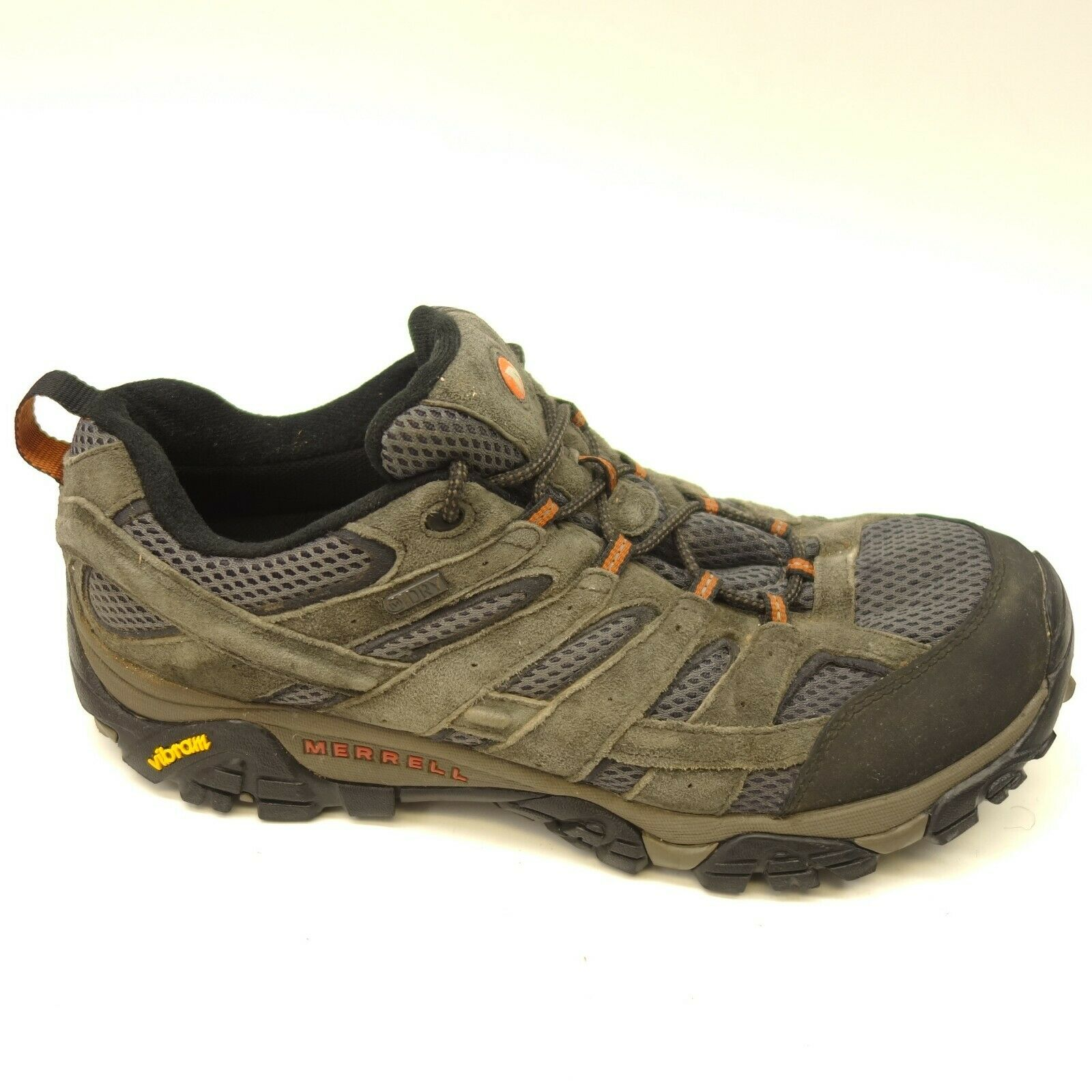 e0b4fbb19045c Merrell Moab 2 Sz 11.5 Low Waterproof Athletic Support Hiking Trail Mens  shoes