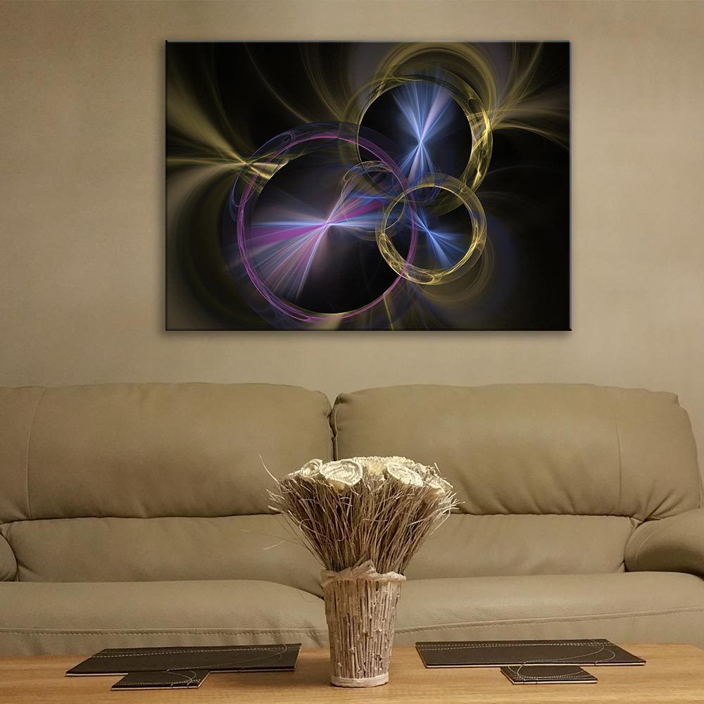 Glass Picture Toughened Wall Art Unique New Modern Fractal Background Any Größe