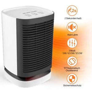 950W Chauffage Soufflant Electrique Radiateur Ventilateur Portable Salle