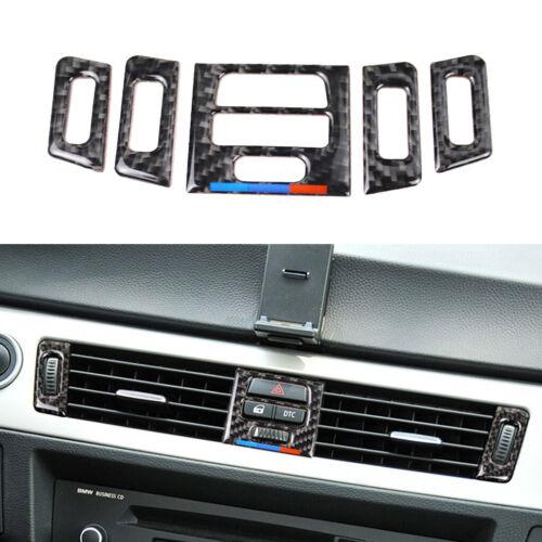 Carbon Fiber Dashboard Air Conditioner Frame Trim für BMW 3 Series E90 E92 9ZJ2