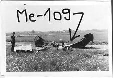 Orig. Foto, Luftwaffe Flugzeug, Messerschmitt Me-109 Wrack in Lithuania Russland