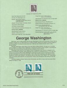 #0142 23c Washington Stamps #3468A/3475A Souvenir Page