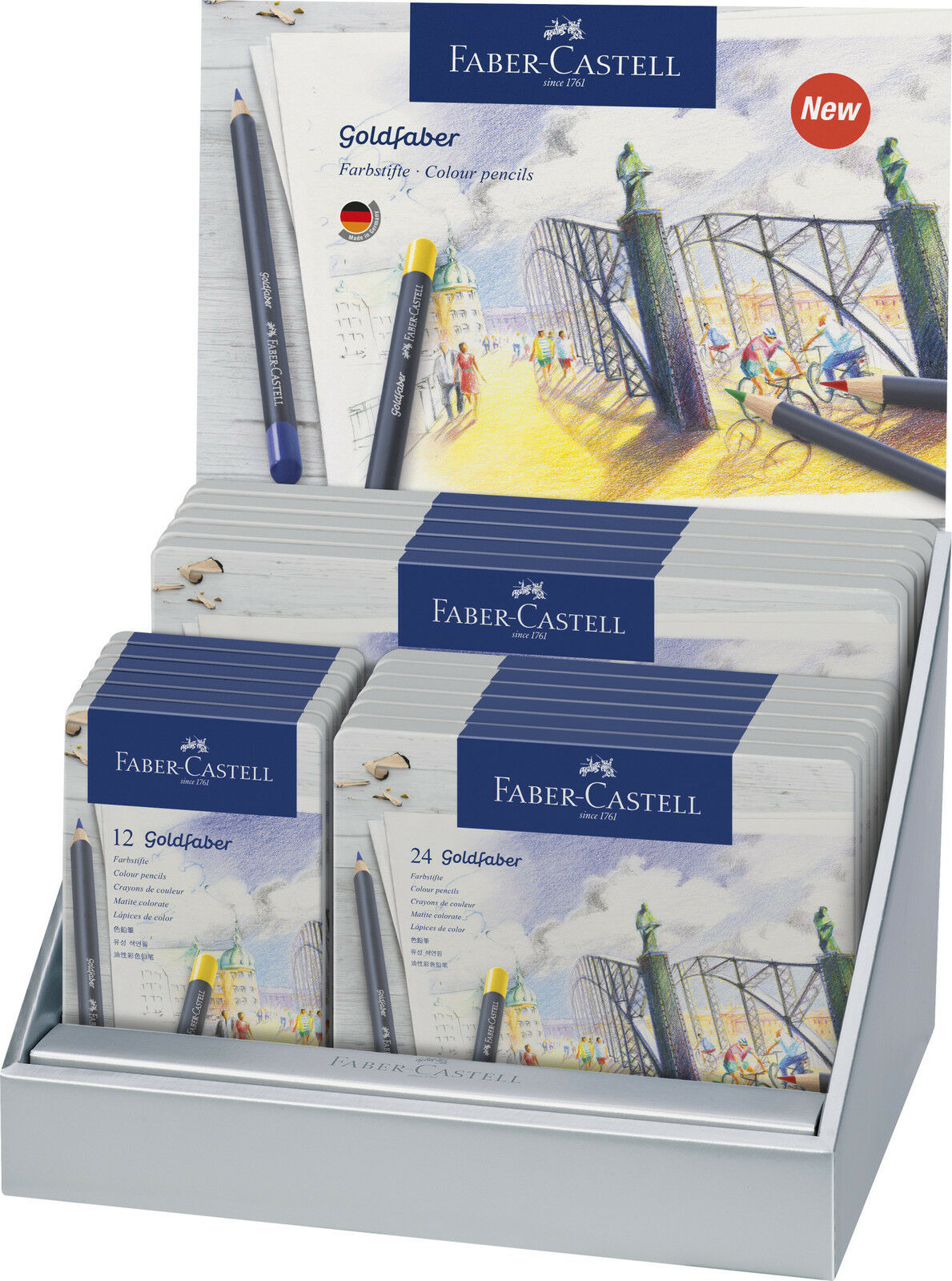 Faber Castell Farbstifte Goldfaber Wasserfest - permanent | Up-to-date-styling