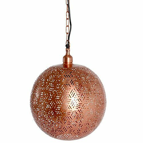 Neuf Contemporain marocain or rose pendentif éclairage lampe de plafond plafond de suspendue Ball 7e2902