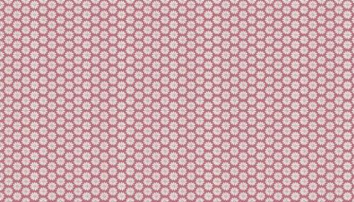 Makower Fabric Antique Garden Daisy Pink Per 1//4 Metre