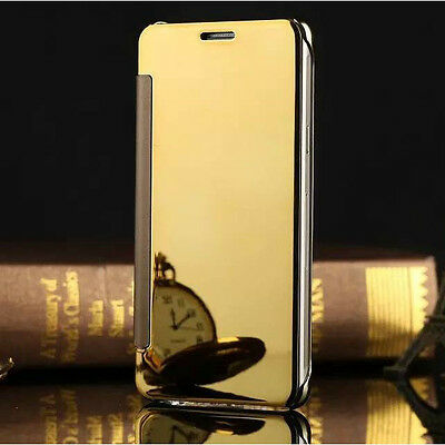 Mirror Clear Smart View Slim Flip Leather Case Cover For Samsung GALAXY Phones