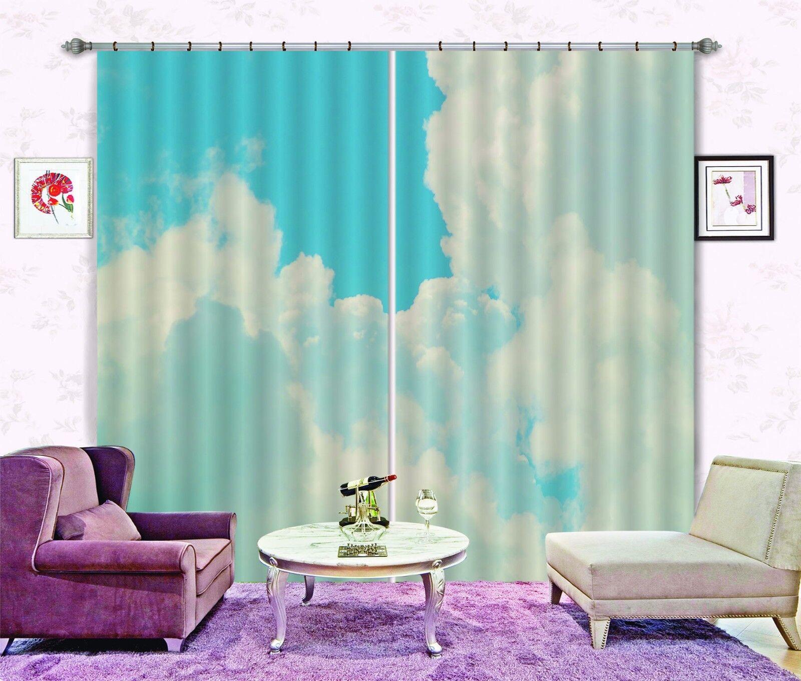 3D buen nube 22 Cortinas de impresión de cortina de foto Blockout Tela Cortinas Ventana CA