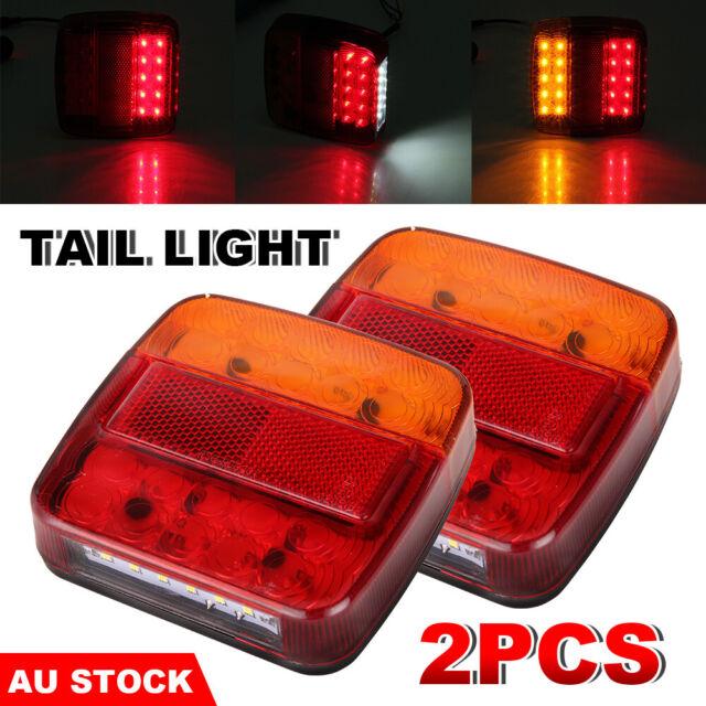 2PCS 12V LED Trailer Lights Brake Indicator Caravan Truck Boat Number Taillights