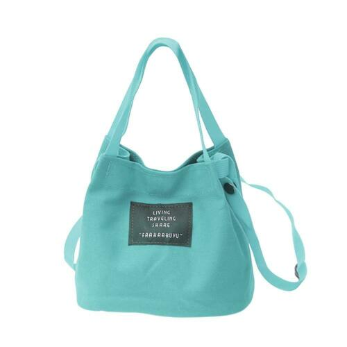 Canvas Small Shoulder Handbags Women Girls Crossbody Satchel Bucket Bags Clutch