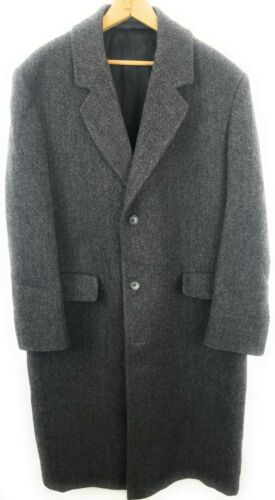 LONDON FOG USA WOOL TWEED Coat Overcoat Mens Size
