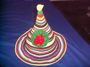 FESTIVAL-PARTY-SUN-HAT-COLOURFUL-PIXIE-FUNKY-HIPPY-REDUCED-PRICE