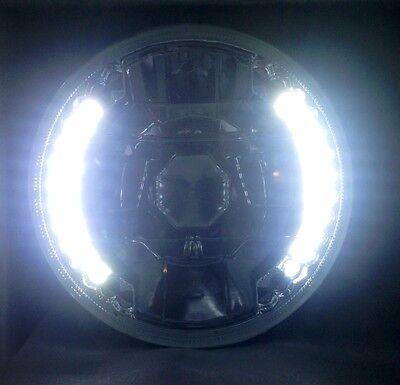 RARE 5-3/4 XENON WHITE HEADLIGHT LED SIGNAL HALO Harley Chopper BobberMotorcycle