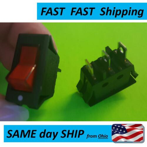 Red Light Lamp On//Off SPST  Switch 15A 220V 240V 20A 125V 120V AC
