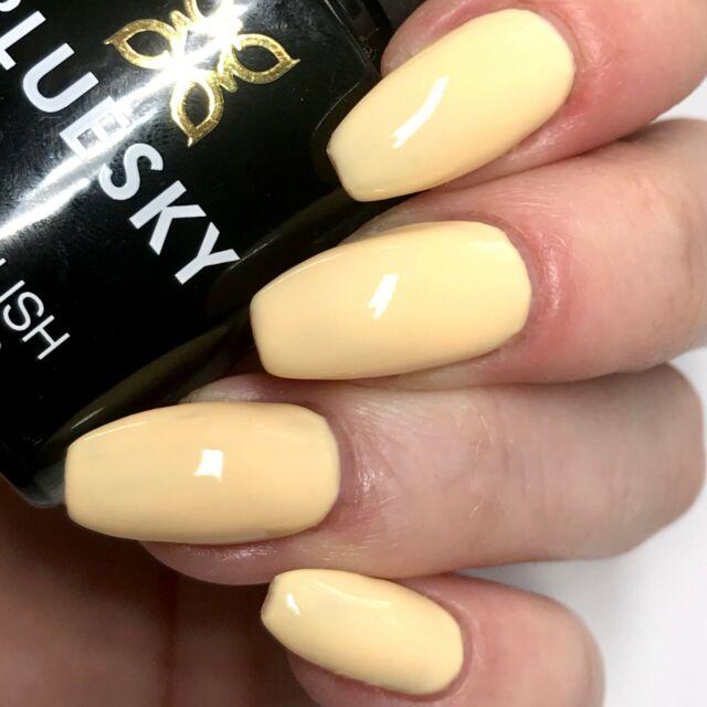 Bluesky Pastel Neon Pn 02 Uv Led Soak Off Gel Nail Polish 10ml Lemon Yellow