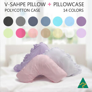 Aus-Made-V-Shape-Tri-Boomerang-Pillow-Pillowcase-Multifuction-Support