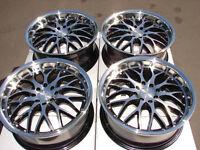 17 4x114.3 4x100 Black Rims Fits Spectra Escort Civic Lancer Accord 4 Lug Wheels