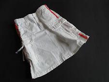 EAGER BEAVER Toller weißer Rock mit Cargotaschen und roten Streifen Gr.122