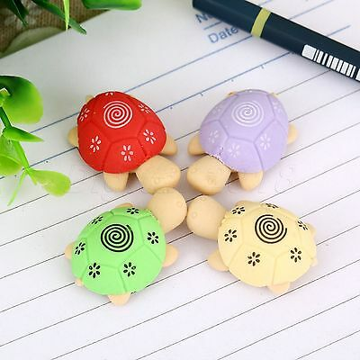 2pcs Lovely Turtle Tortoise Pencil Rubber Eraser Stationery Kid Toy Prize Gift