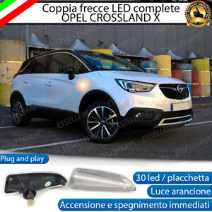 PLACCHETTE A LED FRECCE LATERALI 30 LED SPECIFICHE OPEL CROSSLAND X CANBUS