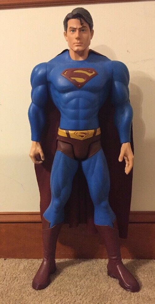 Superman Man of Steel Giant Size Figure 31 inches  79cm Tall Used