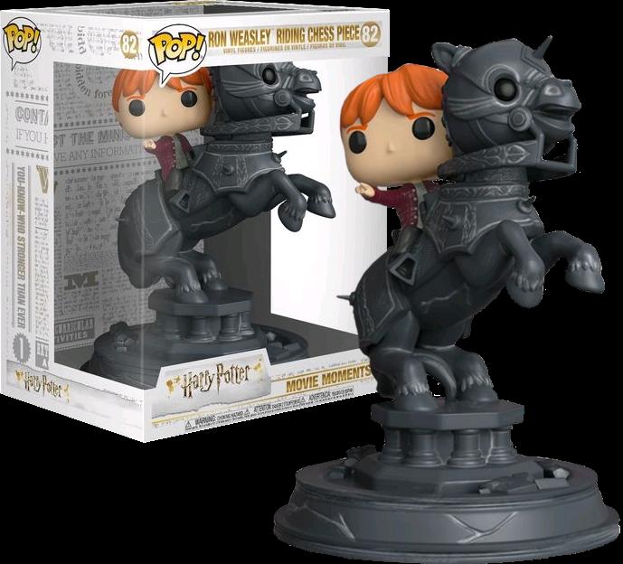 Funko pop harry potter - ron weasley auf schach film momente - begrenzt