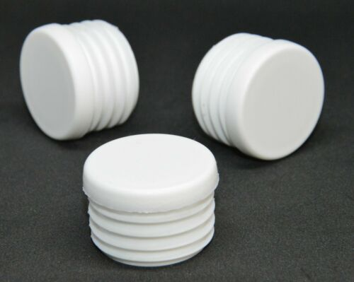 White 30mm Round End Caps Plastic Blanking Plugs Bungs Pipe Tube Inserts