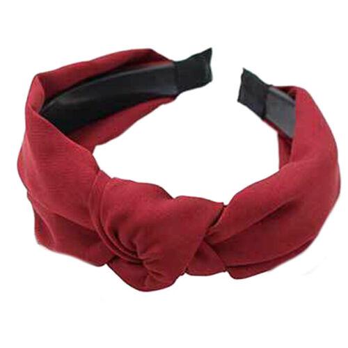 Damen Haarband Stirnband Turban Haarreif Knoten Elastisch Haarschmuck Kopfband
