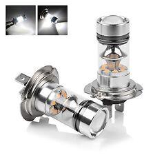 2X H7 50W CREE LED Fog DRL Driving Car Head Light Lamp Bulbs White Super Bright