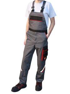 Arbeitshose Latzhose Herren Arbeitskleidung Arbeitslatzhose grau Hose Übergröße
