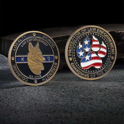 United States Police Dog Canine K9 Law Enforcement Commemorative Coin U.S