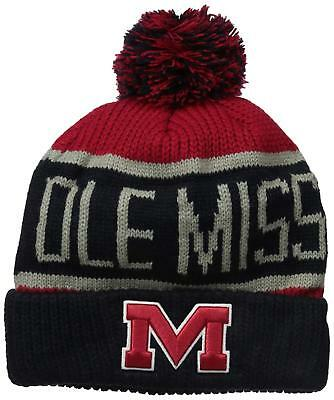 NCAA Team Logo Knit Scarf Ole Miss Mississippi Rebels  Navy