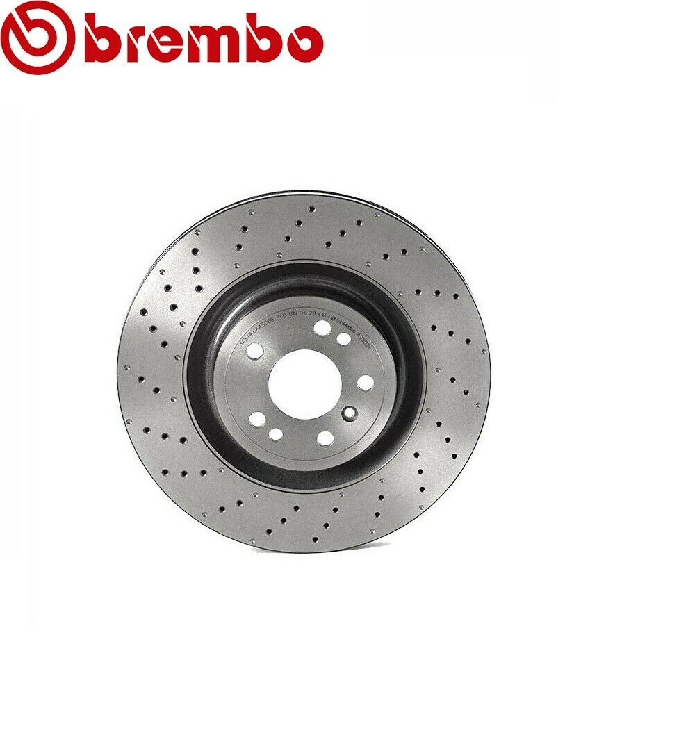 Brembo Pair Set of 2 Front Drilled Brake Disc Rotors For MB W164 W166 W251 6.3L