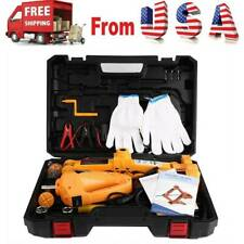 Car Electric Jack Hydraulic Floor 23 Ton Lift Scissor Repair Automotive Dc 12v